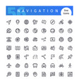 navigation line icons set vector image vector image