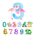 ordinal number 3 for teaching children counting vector image vector image