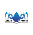 petroleum mine logo design vector image