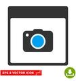 Photo Camera Calendar Page Eps Icon vector image vector image