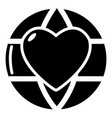 planet heart icon simple black style vector image