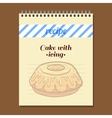Recipe Book Cake With Icing vector image vector image