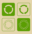 recycle symbol set isolated vector image vector image