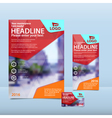 Red brochure flyer and card design vector image