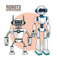 robots android modern technology vector image vector image