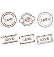 save stamps vector image