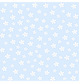Seamless floral pattern on a blue background vector image vector image