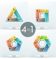 Set of 4 paper infographics templates vector image
