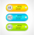Shine horizontal colorful options banners vector image vector image