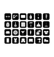 shop icons set silhouette icons for a shop vector image vector image