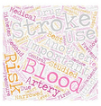 So You ve Had a Stroke Now What text background vector image vector image
