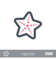 starfish outline icon summer vacation vector image vector image
