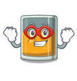 super hero whiskey islated with in character vector image