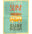 Surf Retro Poster vector image vector image