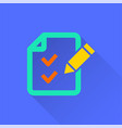 survey - icon for graphic and web design vector image vector image