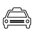 Taxi line icon cab outline sign pictogram