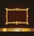 thai art frame border vector image vector image