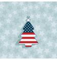 usa christmas decoration vector image vector image