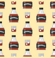 whiskey bottle glass seamless pattern liquor vector image vector image
