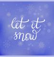 winter lettering on blue snowflakes background vector image