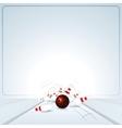 Bowling Strike Ball vector image