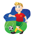 Playing Football vector image