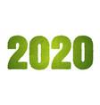 2020 green grass vector image vector image