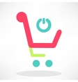 3d of shopping chart icon vector image