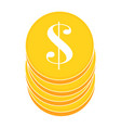 abstract money object vector image vector image
