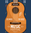 acoustic guitar music festival poster vector image
