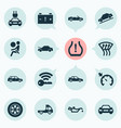 auto icons set with cabriolet station wagon vector image