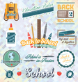 Back to School Labels and Icons vector image vector image
