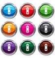 battery set 9 collection vector image vector image