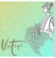 Beautiful fashion woman Retro style Vintage vector image vector image