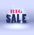 big sale over abstract background vector image vector image