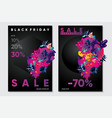 black friday sale posters with abstract 3d element vector image vector image