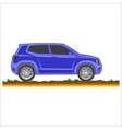 Blue suv car off-road 4x4 icon colored