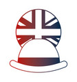 bowler hat elegance english flag button vector image