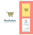 cart creative logo and business card vertical vector image vector image