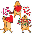 Cats in Love with heart vector image vector image