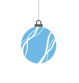 christmas ball blue vector image vector image