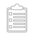 clipboard with bullets icon image vector image