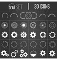 collection gearwheel mechanism icon set vector image