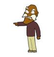 comic cartoon furious old man vector image
