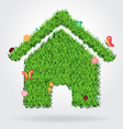 Creative eco house icon concept vector image vector image