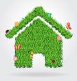 Creative eco house icon concept vector image