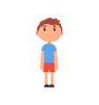 cute litlle preschooler boy cartoon vector image vector image