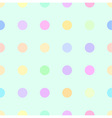 cute pastel rainbow or colorful polka background vector image vector image