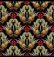 damask floral seamless pattern vintage baroque vector image