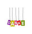 danke greeting card vector image